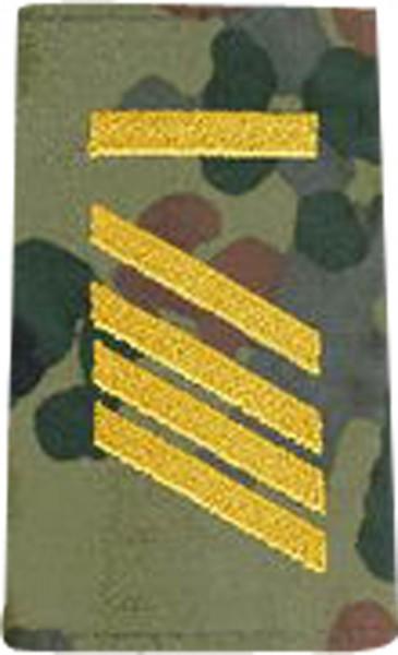 BW Rangschl. Stabsgefreiter-UA Marine Tarn/Gold