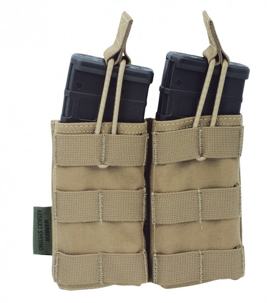 Warrior Double Open Mag Pouch Coyote M4/AR15