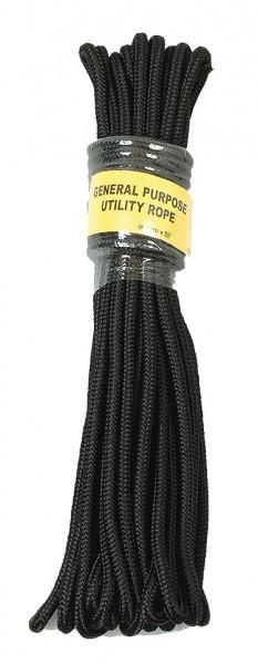 Commando Seil Schwarz 15 Meter - 9 mm Durchmesser