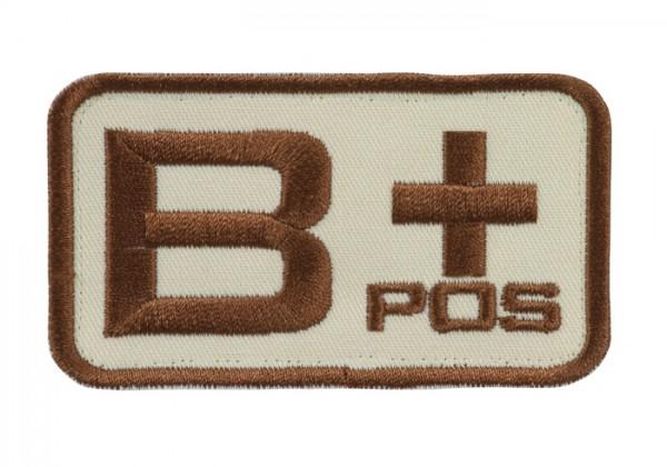 Blutgruppenkennzeichnung Sand/Braun B pos +
