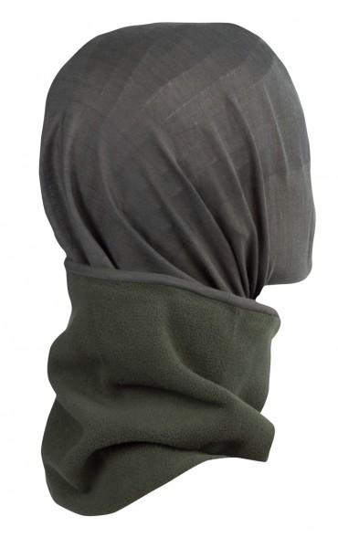 Fleece Rundschal mit Kopfüberzug Oliv