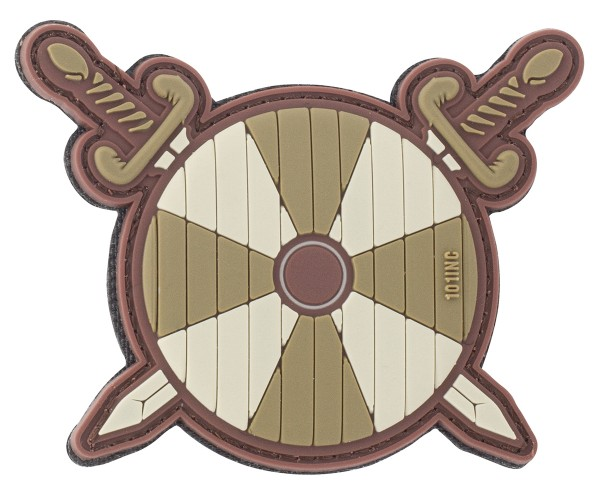 3D Rubber Patch Viking Shield & Swords