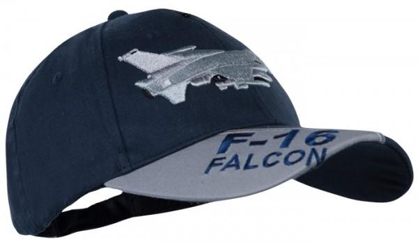 Baseball Cap Blau 3-D F-16