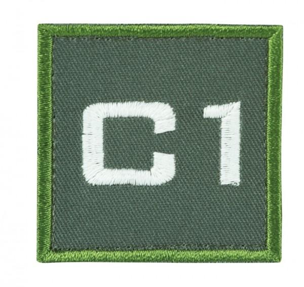 Truppkennzeichnung Oliv mit Klett C1