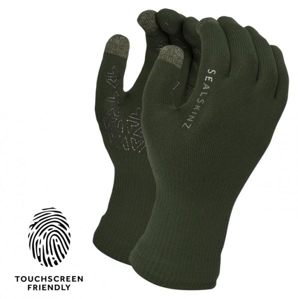 Handschuhe SealSkinz Ultra Grip Touchscreen Oliv