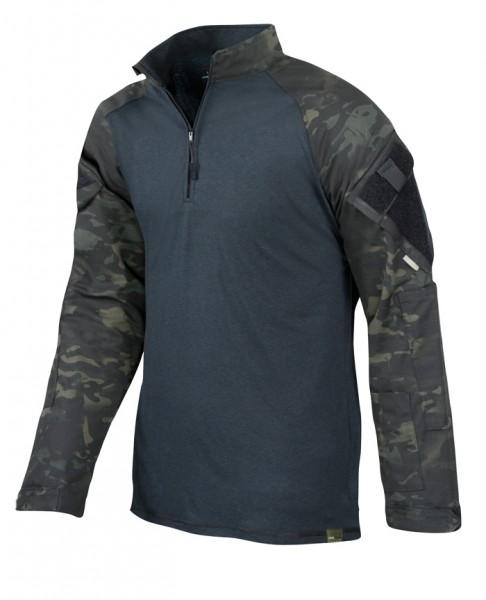 TRU-SPEC Combat Shirt 1/4 Zip Multicam Black