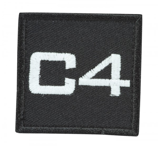 Truppkennzeichnung Schwarz mit Klett C4