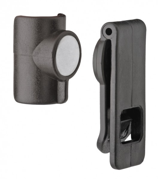 Source Magnetic Tube Clip Schwarz