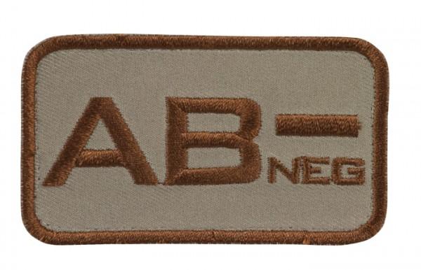 Blutgruppenkennzeichnung Sand/Braun AB neg -
