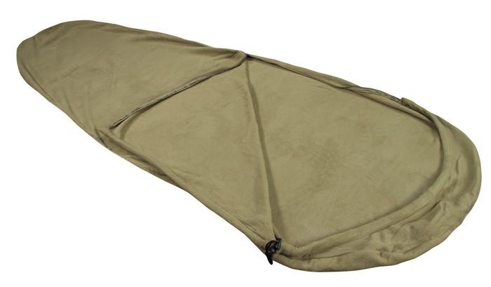 Schlafsack Fleece oliv