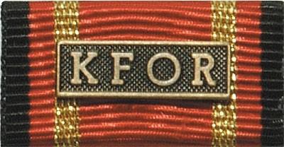 Bandschnalle Auslandseinsatz KFOR