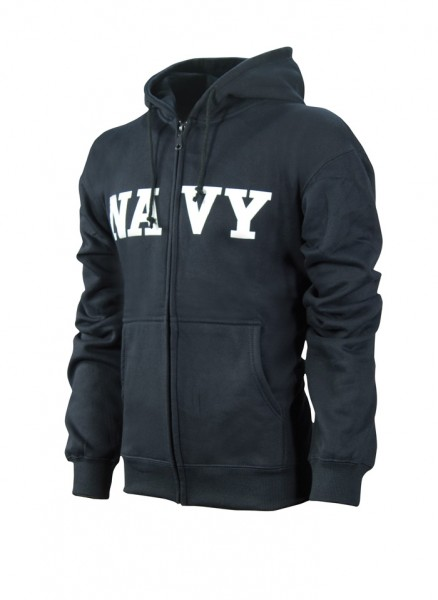 Sweatshirt mit Kapuze Blau mit Navy Schriftzug