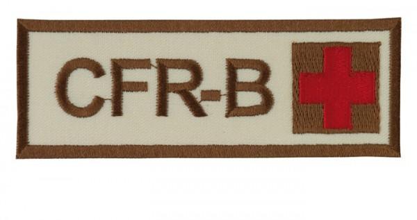 Schriftzug CFR-B mit Kreuz Sand/Braun/Rot Klett