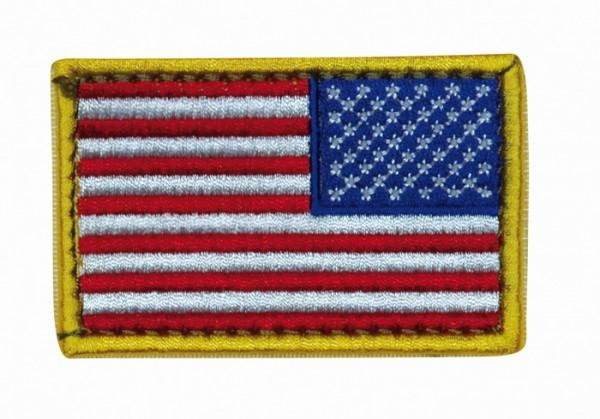 US Nationalitätsabz. Bunt Textil Klett - Reverse