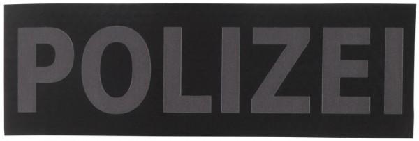 Schriftzug Polizei Schwarz/Grau Infrarot 15 x 5 cm