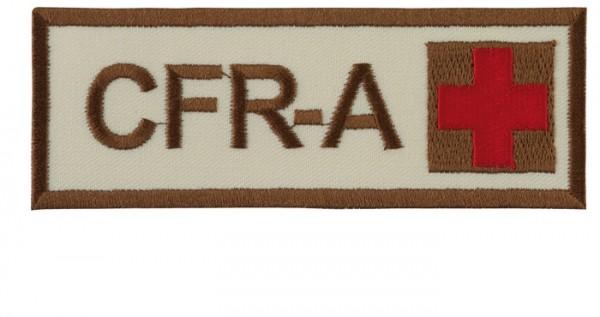 Schriftzug CFR-A mit Kreuz Sand/Braun/Rot Klett