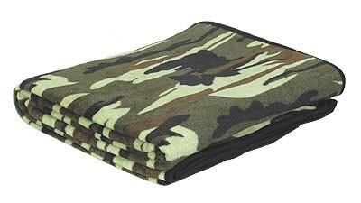 Mil-Tec Fleece Decke Woodland 150x200cm - Original
