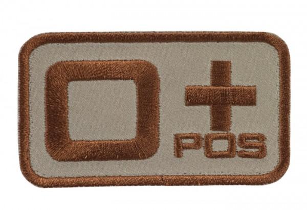 Blutgruppenkennzeichnung Sand/Braun 0 pos +