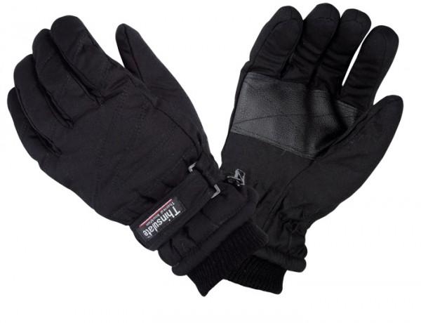 Thermo Handschuhe mit Thinsulate Futter Schwarz