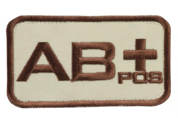 Blutgruppenkennzeichnung Sand/Braun AB pos +