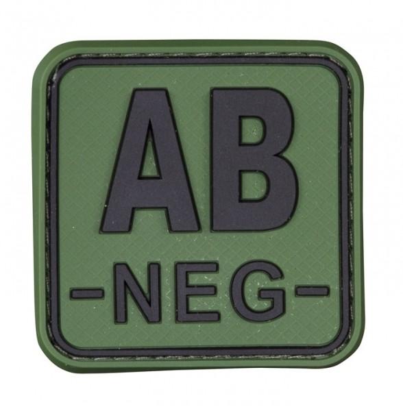 3D Blutgruppenpatch 50x50 Grün/Schwarz AB neg -