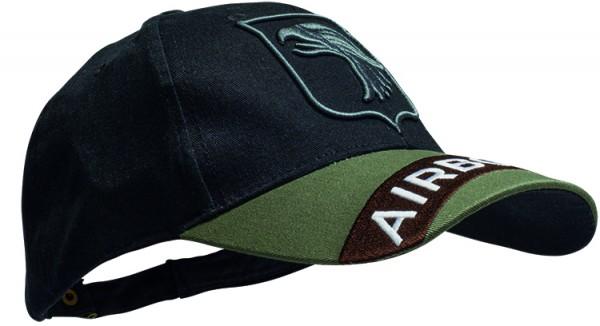 Baseball Cap Schwarz 3-D Airborne