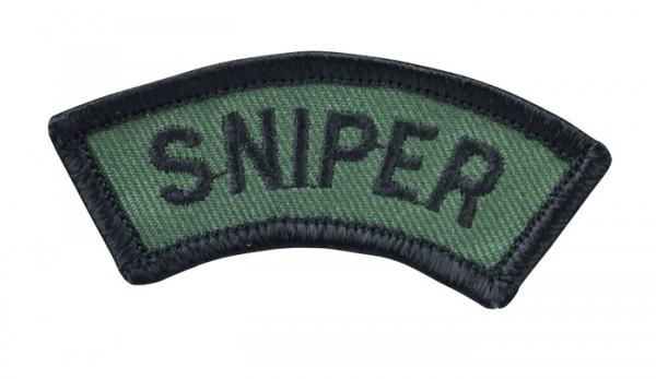 Abzeichen Textil Schriftzug Sniper Oliv/Schwarz