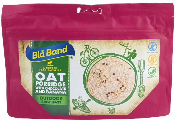 Blå Band Outdoor Breakfast - Haferbrei mit Schokolade und Banane