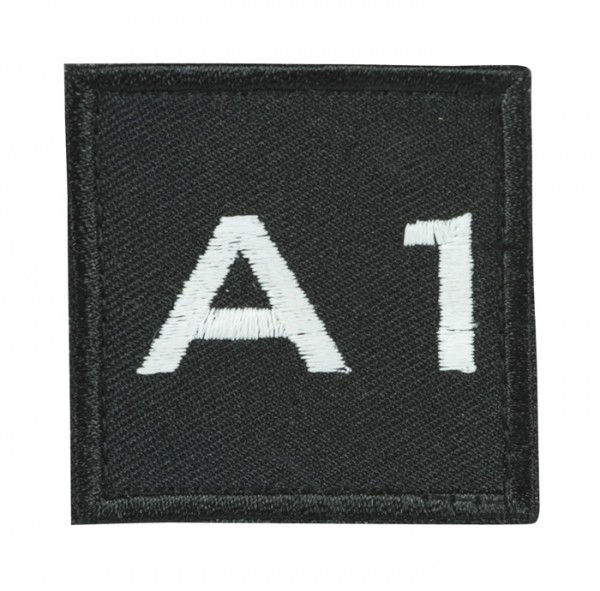 Truppkennzeichnung Schwarz mit Klett A1