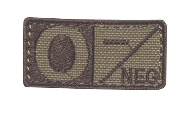 Blutgruppenpatch Coyote/Braun O neg - 229O-003