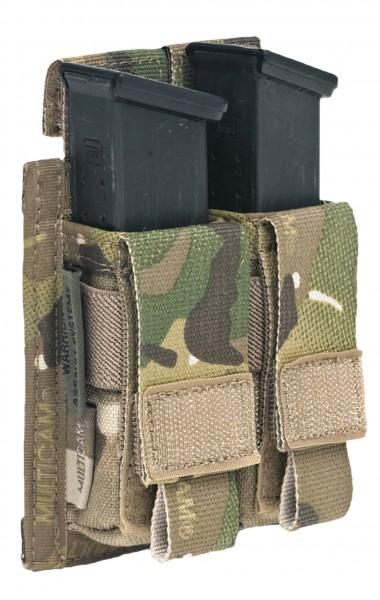 Warrior Double 9mm Pistol Pouch Multicam