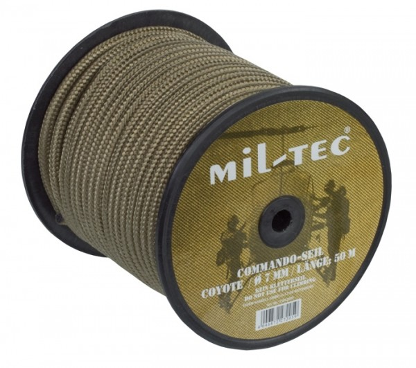 Commando Seil 7 mm Coyote - 50 Meter Rolle