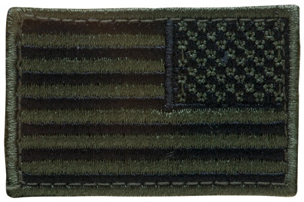 US Nationalitätsabzeichen Reverse Textil mit Klett