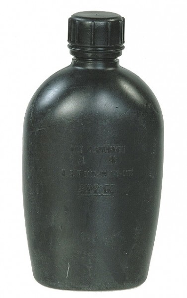 Holländische Feldflasche Schwarz Gebraucht