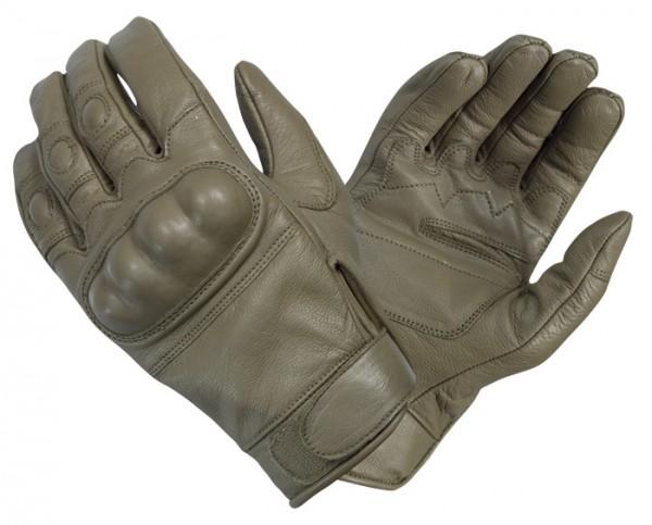 Handschuhe Tactical Gloves Leder Coyote