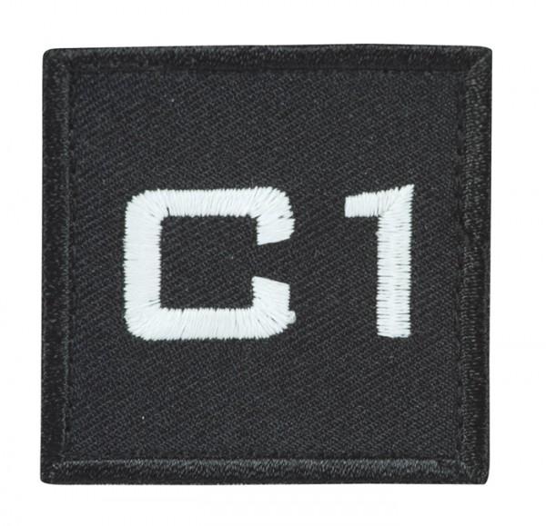 Truppkennzeichnung Schwarz mit Klett C1
