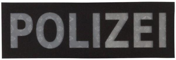 Schriftzug Polizei Schwarz Reflektierend 15 x 5 cm