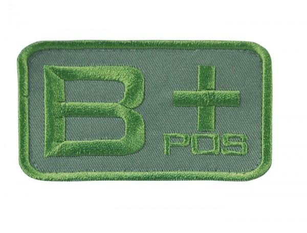 Blutgruppenkennzeichnung Oliv B pos +