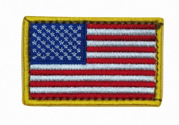 US Nationalitätsabz. Bunt Textil Klett
