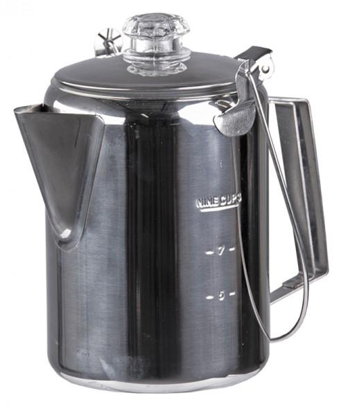 Kaffeekanne Edelstahl mit Perkolator (9 Tassen)