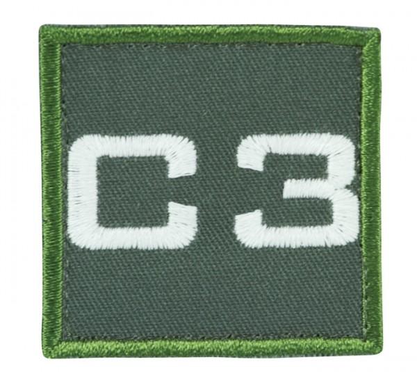 Truppkennzeichnung Oliv mit Klett C3