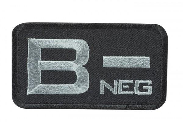 Blutgruppenkennzeichnung Schwarz/Grau B neg -