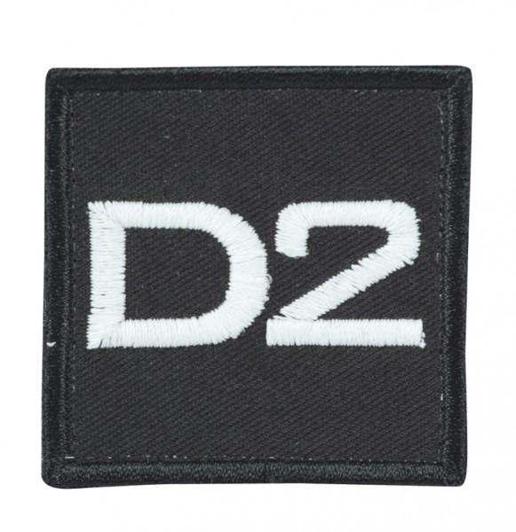 Truppkennzeichnung Schwarz mit Klett D2