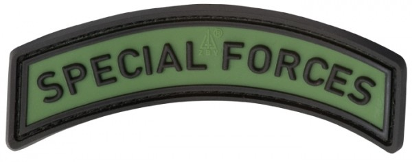 3D Rubber Patch Special Forces Tab Forest