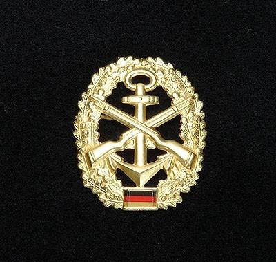 BW Barett Abzeichen Marinesicherung Metall