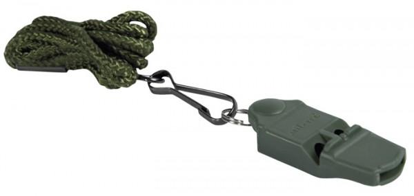 No Ball Whistle Signalpfeife Kunststoff mit Kordel