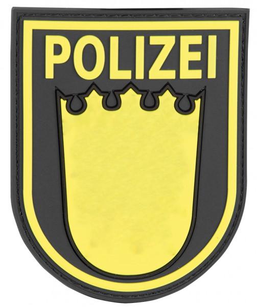 3D Ärmelabzeichen Polizei Baden Württemberg (Schwarz)