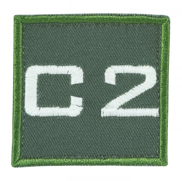 Truppkennzeichnung Oliv mit Klett C2