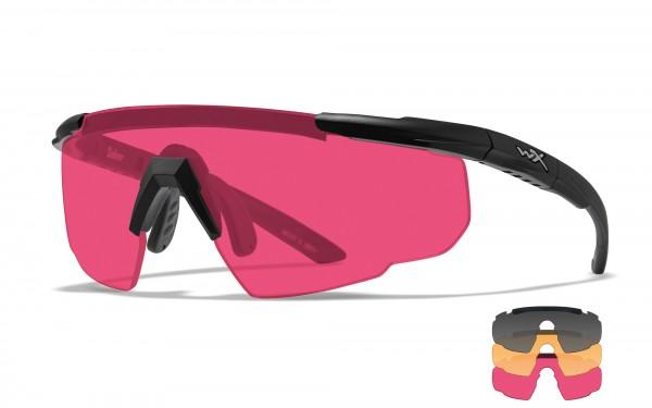 Wiley X Saber Advanced Schutzbrille Smoke/Rust/Vermillion