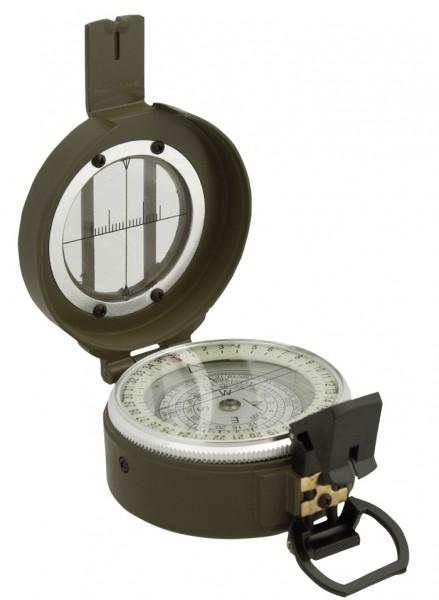 Brit. Lensatic Kompass Metall Oliv mit Tasche